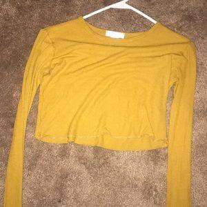 Cropped long sleeve shirt